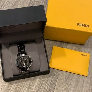 FENDI  Ceramic 38mm Chronograph Quartz Watch black
